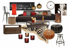Check out this moodboard created on @olioboard: Masculine living room by tiinaa