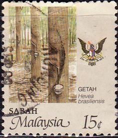 Sabah 1986 SG 463 Rubber Fine Used SG 463 Scott 43 Other Commonwealth Stamps here