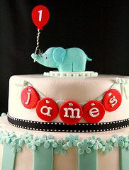 1st birthday cake...ok it has his name on it and it's sooooo adorable..this is going to be his first bday cake