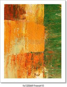 Painted green, yellow, and red - Artwork  - Art Print from FreeArt.com