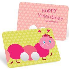 Interactive Valentine's Day Cards - Caterpillar Finger Puppet