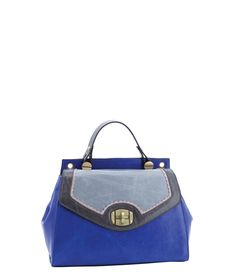 Spencer and Rutherford - Handbags - Tote Bag - Malena - Wisteria - Blue - Fashion - Bold Bags - Smart Bags