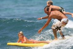 Ossian and kids surfing!