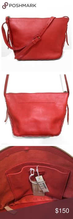 "Madewell Marin Crossbody Bag in Thai Chili This cute crossbody is made of exceptionally soft leather. The perfect everyday bag, it's big enough to hold your wallet, phone, keys, and other must haves. Zip top closure to keep everything secure, and a slip pocket inside. There are natural variations in the leather, as with all Madewell bags. There is a line through the Madewell logo inside to prevent store returns.  Approximately 7.5""h x 14""w x 4.75""d  Adjustable crossbody strap  ❌ Sorry, no…"