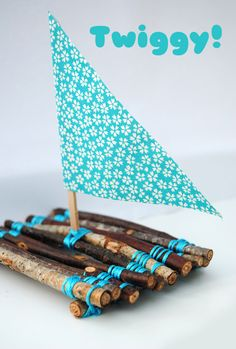 Twigs & Crafts: Twiggy boat to make with Zoey in a few years.