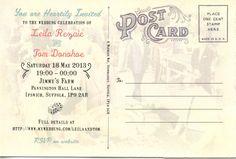 retro vintage las vegas wedding invitation