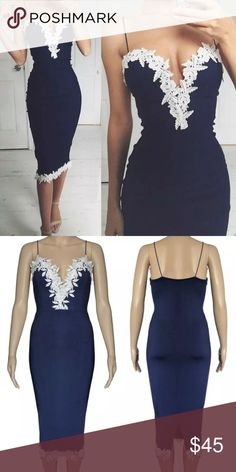 Lace Trim Dress 👗 NWOT Brand new! Simple elegant and chic.listed under nastygal for exposure. Nasty Gal Dresses Midi