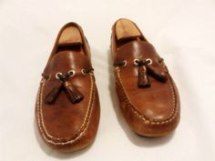 Bass Premium Collection Mens Size 9M Brown Tassel Moc Loafers Shoes