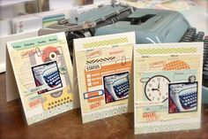 Michelle Wooderson played along with the Oct 4 sketch and created this beautiful card set