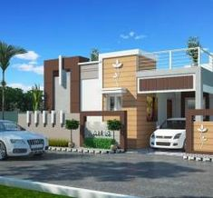 Images for Elevation of Castle Empire Garden House Elevation, Front Elevation, Home Room Design, House Design, Online Real Estate, Independent House, Coimbatore, Property Development, House Architecture