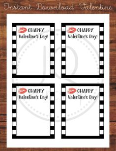 Printable Chappy Valentine's Day Card, Kids Class Valentines, Classroom Valentine's Day Cards, Chapstick Valentine, Instant Download Printable Valentines Day Cards, Stationary, Classroom, Printables, Gift Ideas, Winter, Gifts, Winter Time, Presents