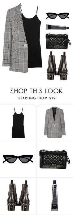 """Untitled #5855"" by lilaclynn ❤ liked on Polyvore featuring rag & bone, Alexander Wang, Le Specs, Chanel, AlexanderWang and ragandbone"