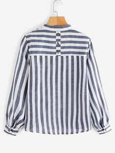 V Neck Striped Blouse -SheIn(Sheinside) - V Neck Striped Blouse -SheIn(Sheinside) Source by Jenniferleponez - Blouse Styles, Blouse Designs, Donia, Blouse Models, Belted Shirt Dress, Stripes Fashion, Fashion Outfits, Womens Fashion, Tunic Tops