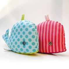 whale softie love the simple prints and cute little frill up top.