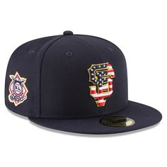 937024813fac Men s San Francisco Giants New Era Navy 2018 Stars   Stripes 4th of July On- Field 59FIFTY Fitted Hat