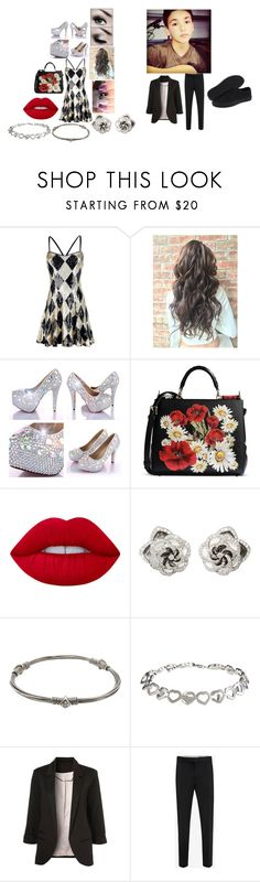 macys prom day by alissaoriginal on Polyvore featuring Vans, Dolce&Gabbana, La Preciosa, Loree Rodkin, Alexander McQueen and Lime Crime