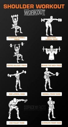 Shoulder Workout Training - Healthy Fitness Routine Arms Back Ab