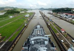 The Plymouth-based Royal Navy warship HMS Argyll has left her South Atlantic patrol and is the way home through the Panama Canal.Sailing two seas in one day – the 50-mile long canal allows ships to sail between the Pacific and Atlantic oceans in just ten hours.