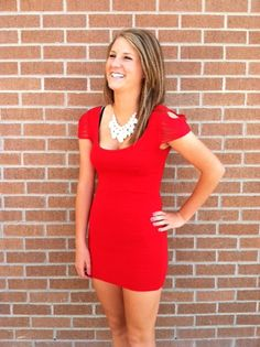 Pick up this red bandage dress at my store! Its perfect for a night out on the town! Nothin' like a good party:) Red Bandage Dress, Night Out, High Neck Dress, Shirt Dress, Store, Party, Shirts, Dresses, Fashion