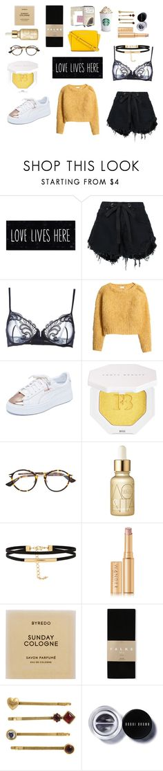 """have a nice day"" by maggiec003 ❤ liked on Polyvore featuring Nobody Denim, La Perla, H&M, Puma, Christian Dior, Koh Gen Do, Wander Beauty, Byredo, Falke and Juicy Couture"