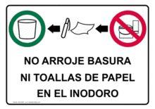 Inodoro no basurero