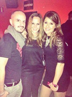 Entre dos bellos, mi amigo Vinni y la gran Nagore Robles, más guapa en persona si cabe!!