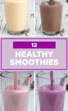 Try any of these healthy smoothies to jumpstart your day! ✨