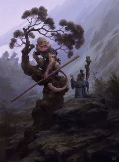 ArtStation - Monkey king & The land God, Tianhua X