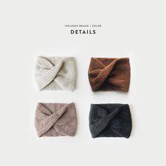 Knitting pattern ⨯ knit turban headband ⨯ the roseaux 🙌 enjoy code the roseaux is a debrosse™ original featuring a classic twist and Knit Headband Pattern, Knitted Headband, Knitted Hats, Knitting Patterns Free, Knit Patterns, Knit Crochet, Crochet Hats, Turban Headbands, Crochet Basics