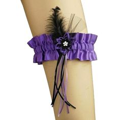 purple and black garter garter for gothic ou by FashionForWomen