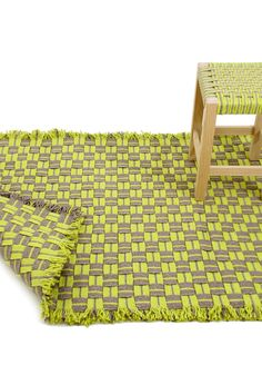 Low pine stool Guarani Line by Darono