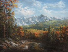 """""""Autumn Valley"""" Oil Painting by Kevin Hill Check out my YouTube channel: KevinOilPainting For more information about brushes, DVDs, oil paint, and more go to: www.paintwithkevin.com"""