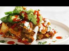 This Healthy Mexican Casserole has roasted corn, roasted bell peppers, cheese, enchilada sauce, and corn tortillas. Perfect leftovers for lunches! Vegan Dinner Recipes, Vegan Dinners, Brunch Recipes, Vegetable Recipes, Veggie Meals, Healthy Recipes, Mexican Dishes, Mexican Food Recipes, Whole Food Recipes