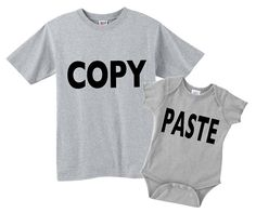 copy and paste dad and baby matching shirt and bodysuit or shirt set. Great gift for dad and baby