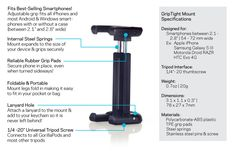 GripTight Smartphone Mount for iPhone, Android, and Windows