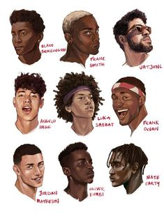 black art trebled-negrita-princess: illustratedkate: black boys are so handsome Of all shades yes GAWD! Art Sketches, Art Drawings, Drawing Faces, Pencil Drawings, Hair Reference, Drawing Reference, Afro Art, How To Draw Hair, Character Design References