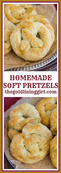 Crispy-edged and soft, chewy homemade buttery pretzels! Butter-soaked, pillowy soft pretzels with a slightly crisp exterior! Artisan Bread Recipes, Healthy Bread Recipes, Yeast Bread Recipes, Snack Recipes, Cooking Recipes, Snacks, Cooking Ideas, Delicious Recipes, Breakfast Recipes