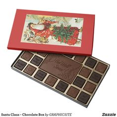 Shop Santa Claus - Chocolate Box created by GRAPHICSITE. Kitchen Gifts, Chocolate Box, Vintage Santas, Xmas, Christmas Holiday, Decoration, Holiday Gifts, Unique Gifts, Diy