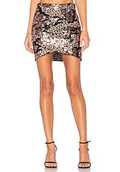 Line & Dot Sequin Mermaid Skirt in Gold | REVOLVE