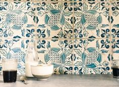 Fired Earth have an exclusive collection of wall tiles, floor tiles, designer paints, kitchens and bathrooms. Bathroom Under Stairs, Downstairs Bathroom, Bathroom Floor Tiles, Tile Floor, Blue Green Kitchen, Bohemian Kitchen, Fired Earth, Design Your Kitchen, Wood Beams