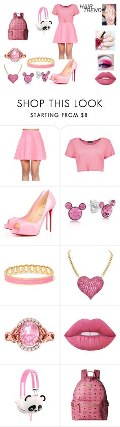 """Hair trend"" by hannah-may-malone ❤ liked on Polyvore featuring Boohoo, Privé, Disney, Marc by Marc Jacobs, Lime Crime, ncLA, MCM, hairtrend and rainbowhair"