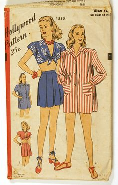 Beachwear - Playsuit pattern