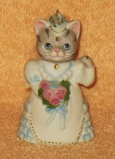 Vintage Kitty Cucumber Bride Figure by Catloversdream on Etsy