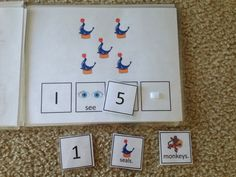 Little Miss Kimberly Ann - Counting at the Circus - free printable adapted book