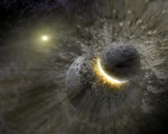 Dating the collision that formed the Moon using late-arriving debris. The magma ocean that resulted acted like a reset button on the age of ...