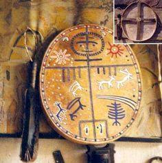 (Tengri) Tengri in drum. Tengri, Old Turk, Mongol, Korea, Siberia God. Drum Patterns, Weaving Patterns, Drums Logo, Tribal People, Spiritus, Larp, Vikings, Character Art, Clock