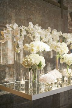 King Plow Wedding by Harwell Photography - Southern Weddings Magazine How to Have the Bride Modern Wedding Flowers, All White Wedding, Wedding Flower Arrangements, Mod Wedding, Flower Centerpieces, Wedding Centerpieces, Wedding Table, Floral Wedding, Floral Arrangements