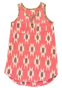 Ikat Dress by Nico Nico, a pattern we love in our homes and closets- follow us on www.birdaria.com like it love it share it click it pin it!!!!