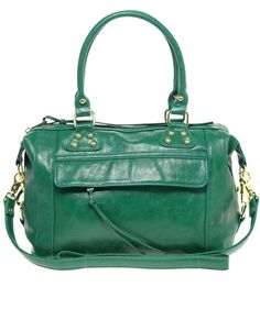 This will probably be my new fall bag.  I just wish it was real leather