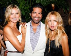 Brian Atwood proves all smiles with party guest Heidi Klum and best friend, Rachel Zoe. #NYFW #BrianAtwood